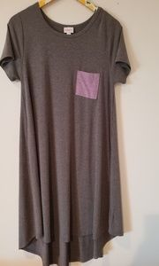 Lularoe Carly dress-pocketed hi lo